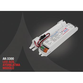 AK-3200-3 LED Lambalar Ýçin Acil Durum Yedekleme Kiti Kesintide 180 Dak. Yanan 90-200 Volt