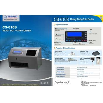 Ribao CS-610S 9+1 Gözlü Sahtelik Kontrollü Madeni Para Sayma Makinesi