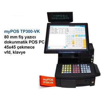 Mypos TP300-VK Mali Onaylý Dokunmatik Pos Yazar Kasa
