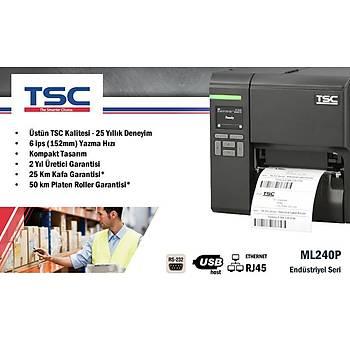 TSC ML240P Endüstriyel Barkod Etiket Yazýcý