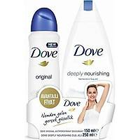Dove Deo Sprey Original 150 ml + Deeply Nourishing Duþ Jeli 250 ml