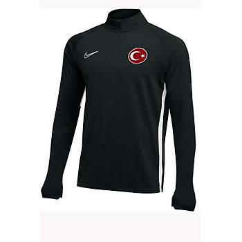 Nike Acdmy19 Milli Takým Baskýlý Sweatshirt AJ9094-010 Siyah