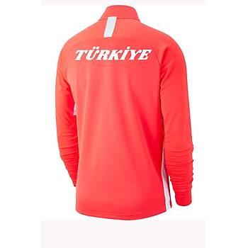 Nike Acdmy19 Milli Takým Baskýlý Sweatshirt AJ9094-671 Turuncu
