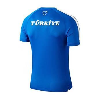 Nike Milli Takým Baskýlý Tiþört Mavi 644665-463