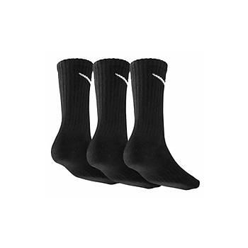 Nike SX4508-001 Siyah 3 lü Spor Çorap Seti