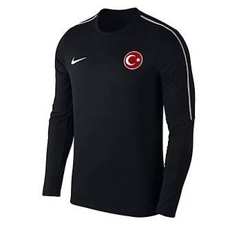 Nike Park18 Milli Takým Baskýlý Sweatshirt AA2088 Siyah