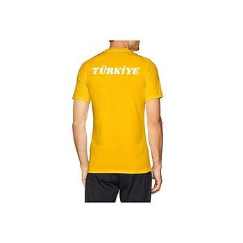 Nike Milli Takým Baskýlý Erkek Tiþört 725891 Sarý