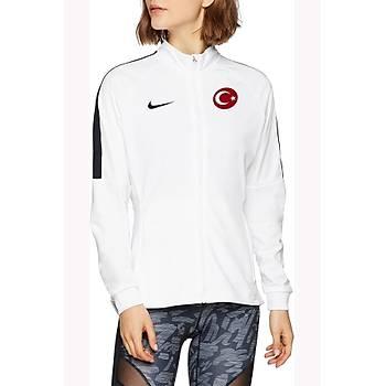 Nike Acdmy18 Milli Takým Baskýlý Kadýn Ceket 893767-100 Beyaz