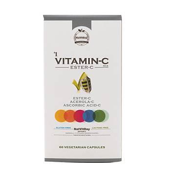 NatVitDay Vitamin C Mix (Ester C) 60 kapsül