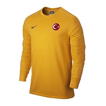 Nike Milli Takým Baskýlý Uzun Kollu Sarý 588418-739