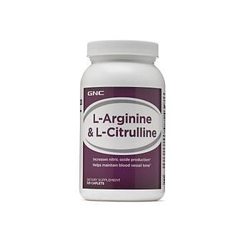 Gnc L Argine & L-Citrulline 120 Caplets
