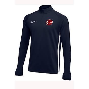 Nike Acdmy19 Milli Takým Baskýlý Sweatshirt AJ9094-451 Lacivert