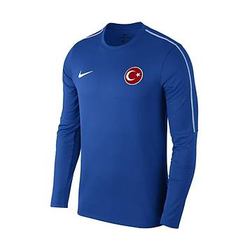 Nike Park18 Milli Takým Baskýlý Sweatshirt AA2088 Mavi