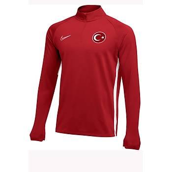 Nike Acdmy19 Milli Takým Baskýlý Sweatshirt AJ9094-657 Kýrmýzý