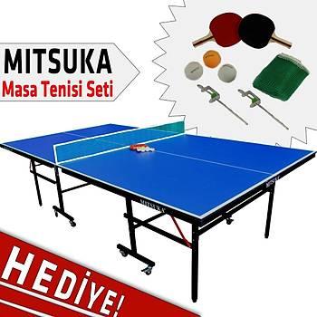 Mitsuka 501B Mavi Masa Tenis Masasý 16mm Mavi
