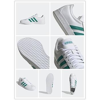 Adidas VL Court 2.0 Spor Ayakkabý Yeþil EE6814