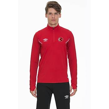 Umbro Esala Milli Takým Baskýlý Sweatshirt TC 0021 Kýrmýzý
