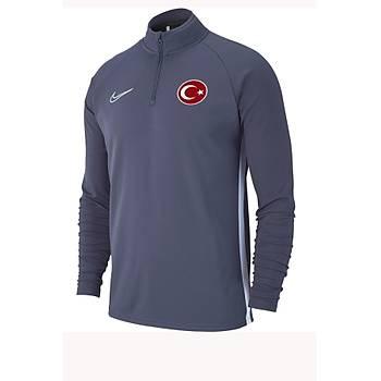 Nike Acdmy19 Milli Takým Baskýlý Sweatshirt AJ9094-060 Gri