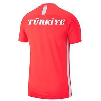 Nike Acadmy 19 Sýfýr Yaka Milli Takým Baskýlý Tiþört AJ9088 Turuncu