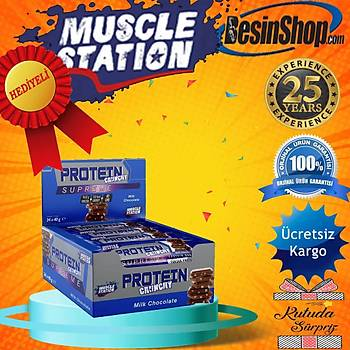 Muscle Station Supreme Crunchy Protein Bar Milk Chocolate 24 Adet