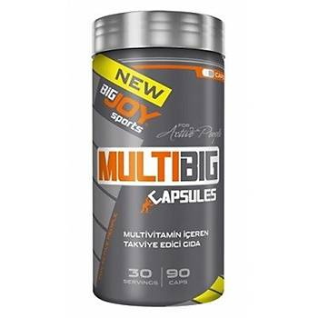 Big Joy MultiBig Vitamin Mineral 90 Kapsül