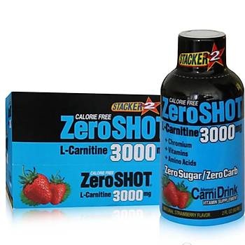 Stacker Zeroshot L-Carnitin Strawberry 3000 Mg 12X60 ML