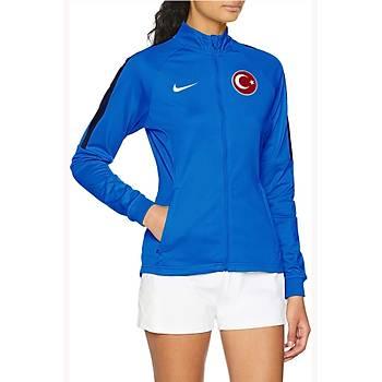 Nike Acdmy18 Milli Takým Baskýlý Kadýn Ceket 893767-463 Mavi
