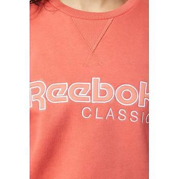Reebok Cl Fl Crew Kadýn Sweatshirt EB5153 Turuncu