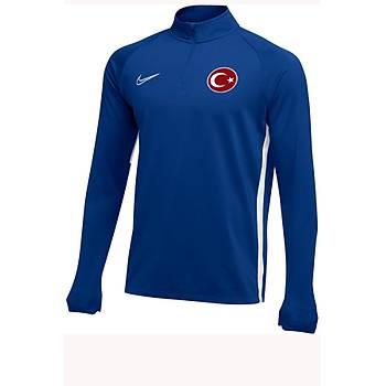 Nike Acdmy19 Milli Takým Baskýlý Sweatshirt AJ9094-463 Mavi