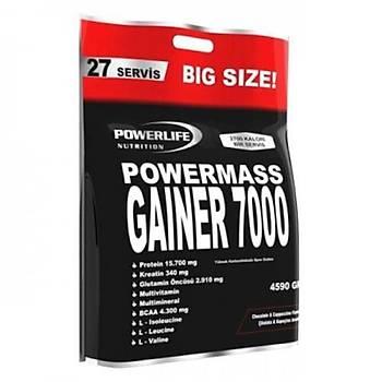 Power Life Mass Gainer 7000 Cappuccýno 4590 Gr Poþet