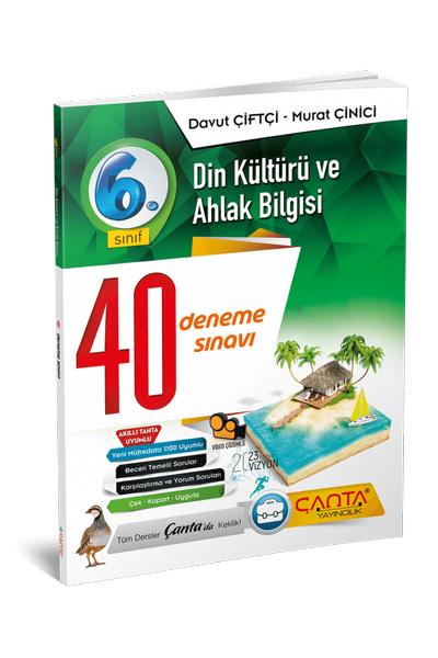 Çanta Yayýncýlýk 6.Sýnýf Din Kültürü ve Ahlak Bilgisi 40 Deneme Sýnavý Yeni Baský (2020-2021)