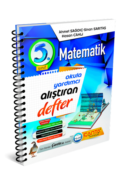 Çanta Yayýncýlýk 5.Sýnýf Matematik Alýþtýran Defter Yeni Baský (2020-2021)