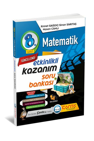 Çanta Yayýncýlýk 8.Sýnýf Matematik Etkinlikli Kazaným Soru Bankasý Yeni Baský (2020-2021)
