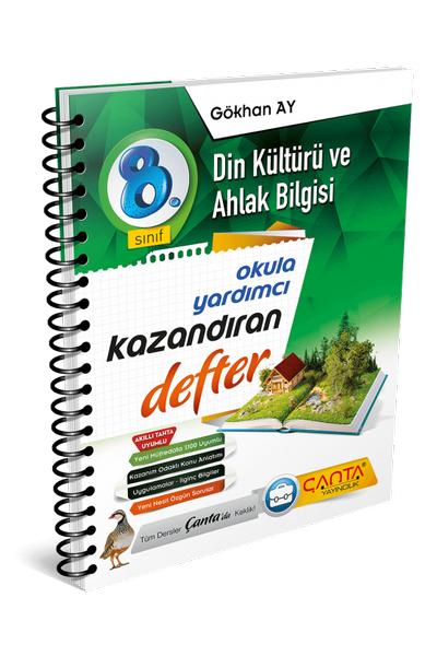 Çanta Yayýncýlýk 8.Sýnýf Din Kültürü ve Ahlak Bilgisi Kazandýran Defter Yeni Baský (2020-2021)
