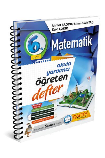 Çanta Yayýncýlýk 6.Sýnýf Matematik Öðreten Defter Yeni Baský (2020-2021)