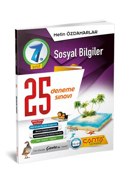 Çanta Yayýncýlýk 7.Sýnýf Sosyal Bilgiler 25 Deneme Sýnavý Yeni Baský (2020-2021)