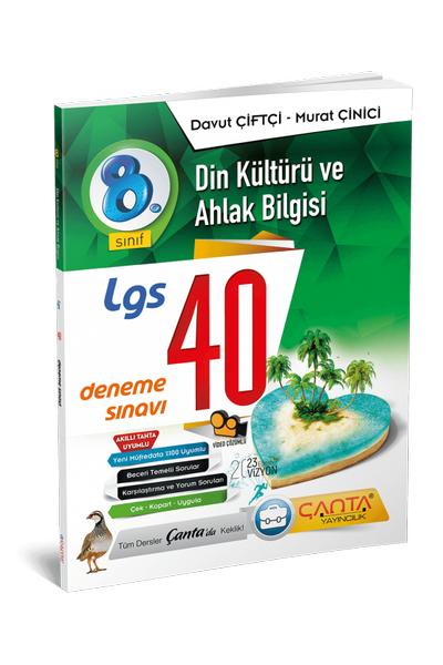 Çanta Yayýncýlýk 8.Sýnýf Din Kültürü ve Ahlak Bilgisi 40 Deneme Sýnavý Yeni Baský (2020-2021)