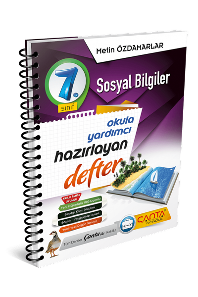 Çanta Yayýncýlýk 7.Sýnýf Sosyal Bilgiler Hazýrlayan Defter Yeni Baský (2020-2021)