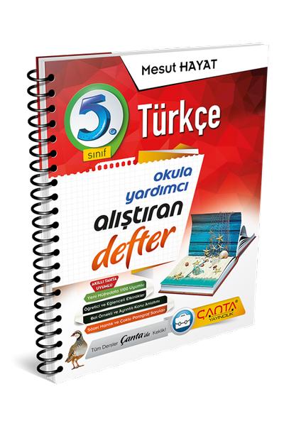 Çanta Yayýncýlýk 5.Sýnýf Türkçe Alýþtýran Defter Yeni Baský (2020-2021)