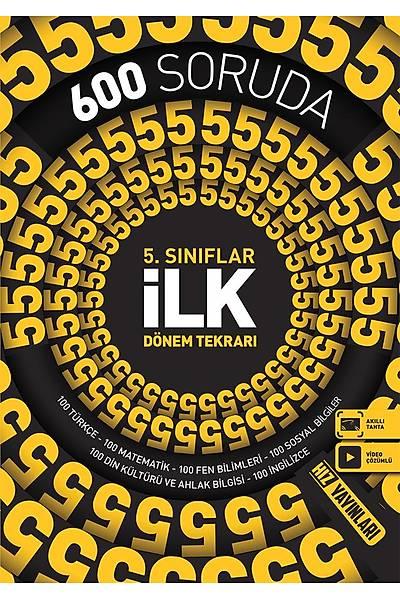 Hýz Yayýnlarý 5.Sýnýf 600 Soruda Ýlk Dönem Tekrarý Yeni Baský (2020-2021)