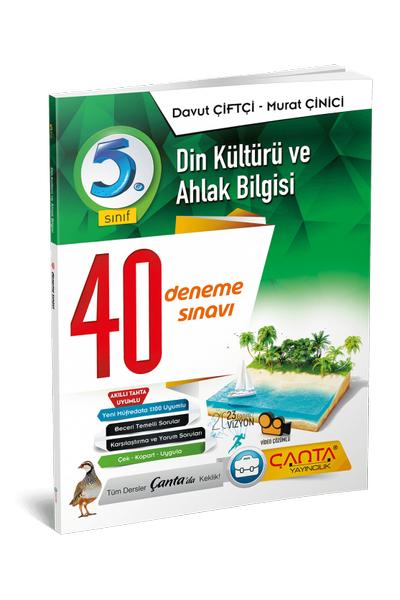 Çanta Yayýncýlýk 5.Sýnýf Din Kültürü ve Ahlak Bilgisi 40 Deneme Sýnavý Yeni Baský (2020-2021)