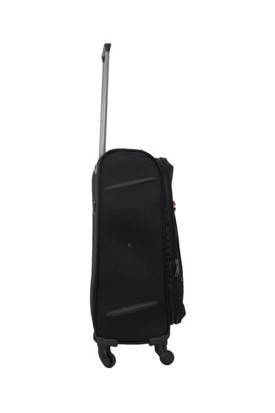 Cambridge Polo Club 4 Teker Orta Boy Kumaþ Bavul PLBVL30021 M Siyah