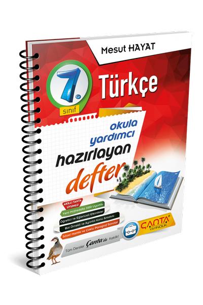 Çanta Yayýncýlýk 7.Sýnýf Türkçe Hazýrlayan Defter Yeni Baský (2020-2021)