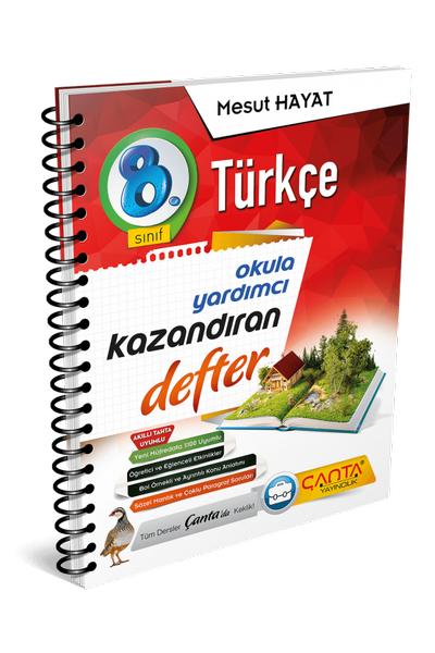 Çanta Yayýncýlýk 8.Sýnýf Türkçe Kazandýran Defter Yeni Baský (2020-2021)