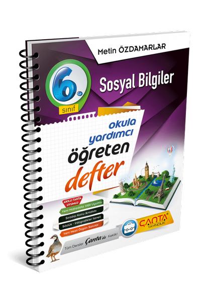 Çanta Yayýncýlýk 6.Sýnýf Sosyal Bilgiler Öðreten Defter Yeni Baský (2020-2021)