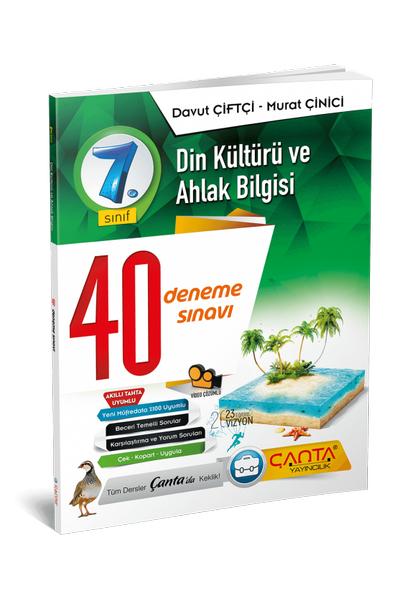 Çanta Yayýncýlýk 7.Sýnýf Din Kültürü ve Ahlak Bilgisi 40 Deneme Sýnavý Yeni Baský (2020-2021)