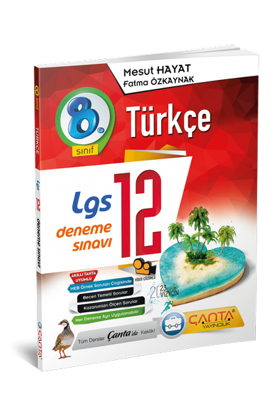 Çanta Yayýncýlýk 8.Sýnýf Türkçe 12 Deneme Sýnavý Yeni Baský (2020-2021)
