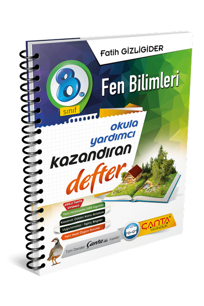Çanta Yayýncýlýk 8.Sýnýf Fen Bilimleri Kazandýran Defter Yeni Baský (2020-2021)