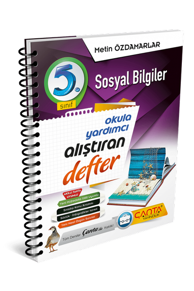 Çanta Yayýncýlýk 5.Sýnýf Sosyal Bilgiler Alýþtýran Defter Yeni Baský (2020-2021)