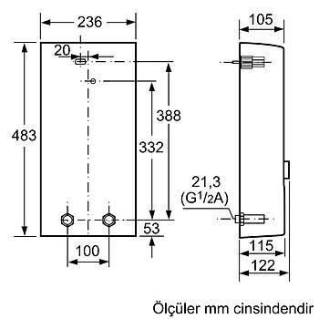 Siemens DE2124628M Trifaze Ani Su Isýtýcý